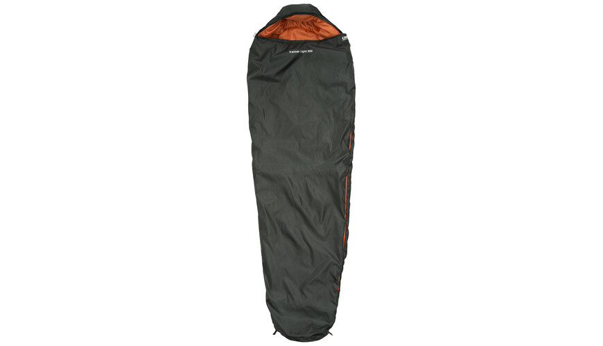 CAMPZ Trekker light 300 Schlafsack anthrazit/orange